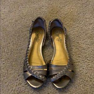 Seychelles pewter sandals size 6.5